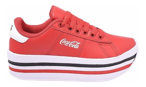 Tênis Sapatilha Plataforma Coca Cola Confortável Lançamento!