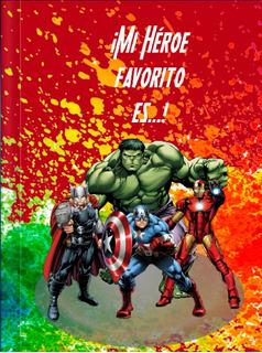 Mi Héroe Favorito Es, Libro Personalizado Para Papá