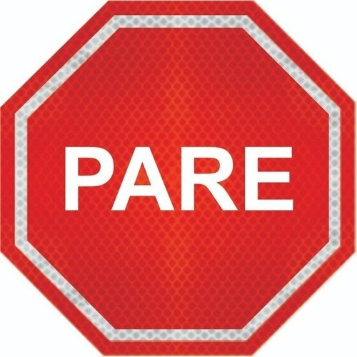 Imagem 1 de 4 de Placas De Pare (parada Obrigatória) Adesivo Refletivo R-1 Ti