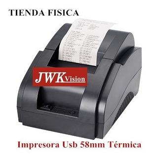 Impresora Térmica Usb 58mm Punto De Venta Tickets Jwk Vision