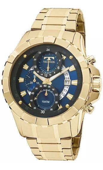 Relógio De Pulso Masculino Dourado Classic Legacy Technos
