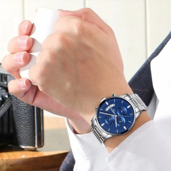 Relógio Masculino Inox Grande Prova D