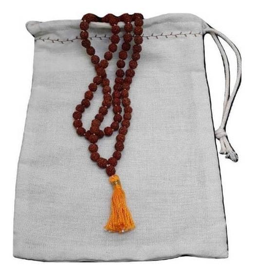 Colar Japamala Rudraksha 7mm Para Meditar + Brinde Da Loja