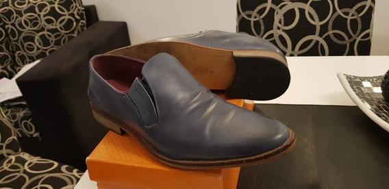 Zapatos Batistella Hombre Color Azul Cuero Casi Nuevos