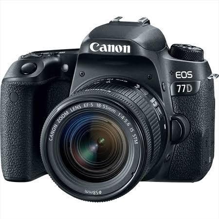 Canon 77d Pouco Usada + Lente 18-55 Is Stm 8.532 Clicks