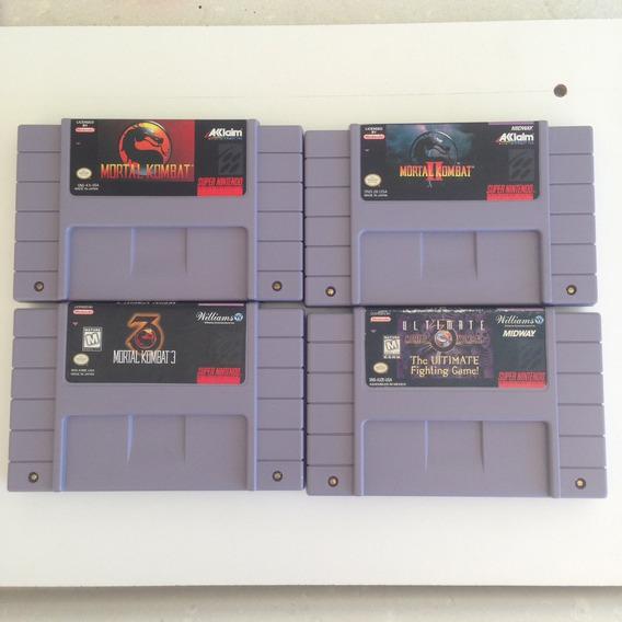Cb Mortal Kombat 1,2,3 E 3 Ultimate Originais - Snes