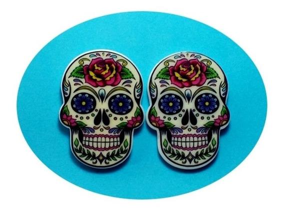Lindo Brinco Promoção Caveira Mexicana Rock Metal Halloween