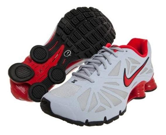 Tênis Nike Shox Turbo 14 Cinza,/vermelho Tam.44 Original