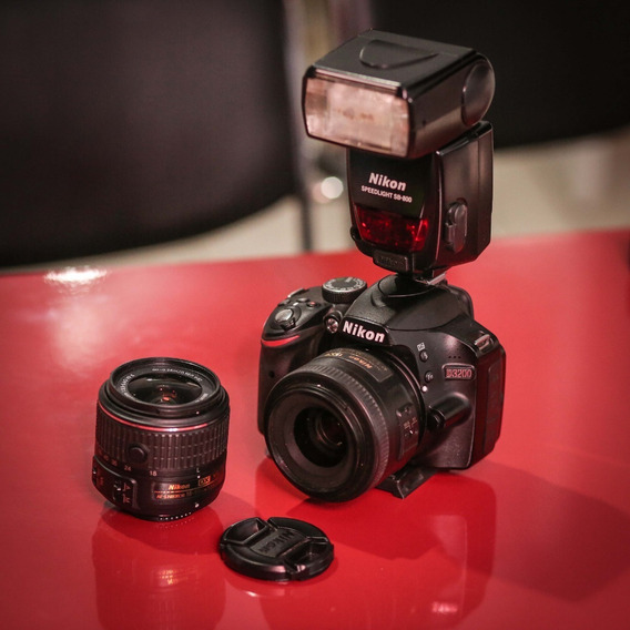 Nikon D3200 + Lente 35mm + Flash Sb 800 + Lente 18-55