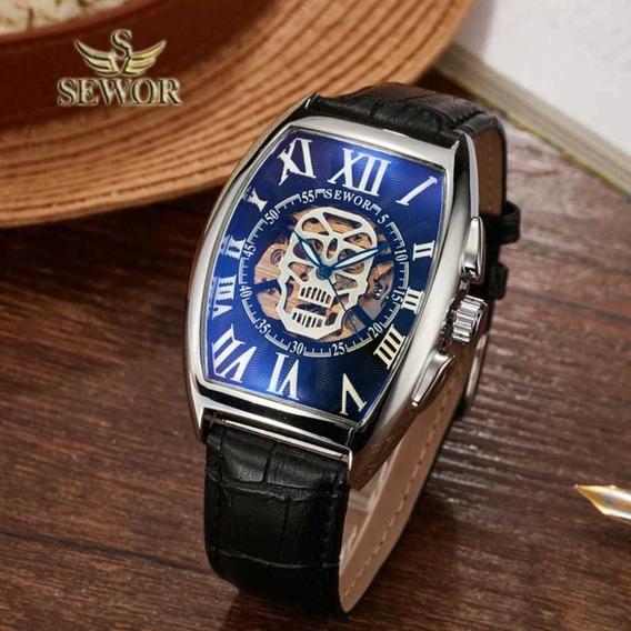 Relógio Masculino Sewor Automático Caveira