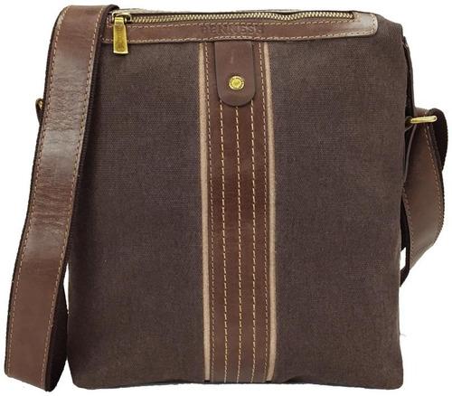 Bolsa Para Tablet Em Lona E Detalhes Em Couro 16027