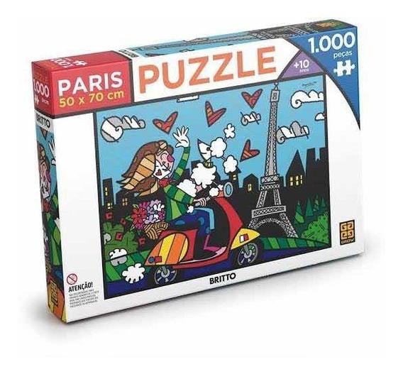 Quebra Cabeça Puzzle 1000 Peças Paris Romero Brito Grow