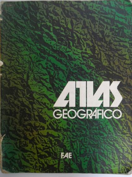 Livro Antigo Atlas Geográfico Fae Ano De 1984 2ª Edição