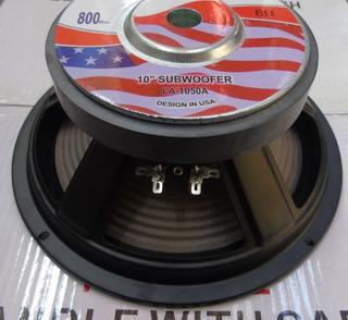 2 Parlantes Subwoofer 10 Pulgadas 800w Usa Pioner Jbl Sony