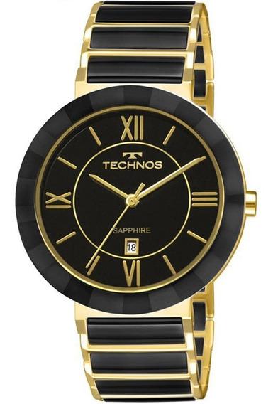 Relógio Technos Cerâmica Safira Grande 2015bv/4p Oferta Orig