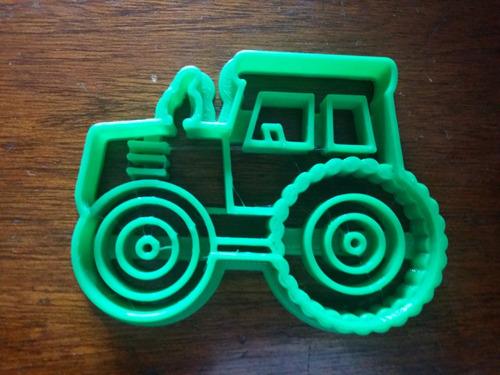 Cortantes Personalizados Moldes Galletitas Tractor 9cm