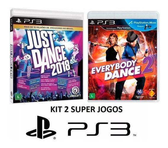 Just Dance 2018 + Everybody 2 - Midia Fisica Lacrado - Ps3