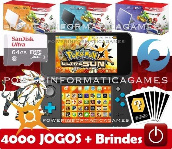 New 2ds Xl 64gb 4000 Jogos Varias Cores + Capa Acrílica + Película