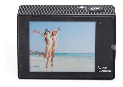 Imagem 1 de 4 de Câmera sportiva Amvox ADC 840 4K NTSC/PAL preta