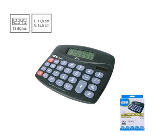 Calculadora De Mesa C-206n 12 Dígitos Cis