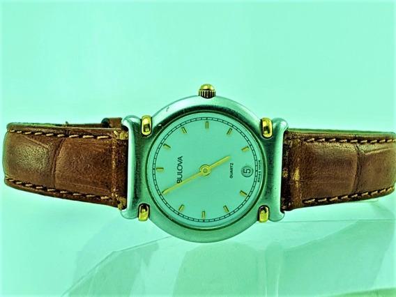 Relógio Bulova 657130 Pulseira De Couro (suiço)