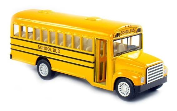 Micro Omnibus Bus Escolar Usa Esc1:64 Coleccion Metal