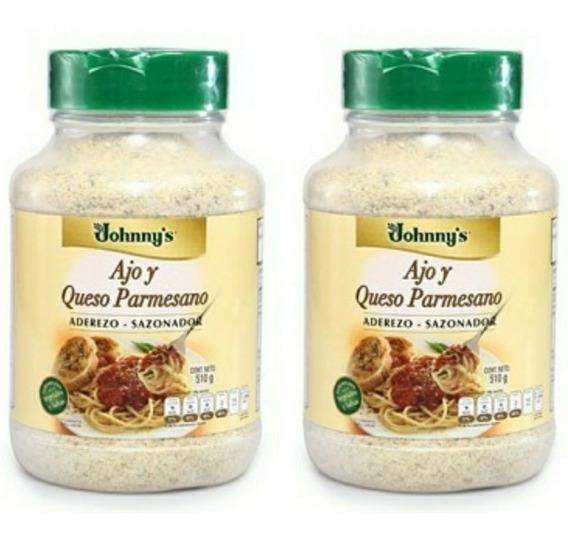 2 Aderezo-sazonador Ajo Y Queso Parmesano Jhonny´s 510 G C/u