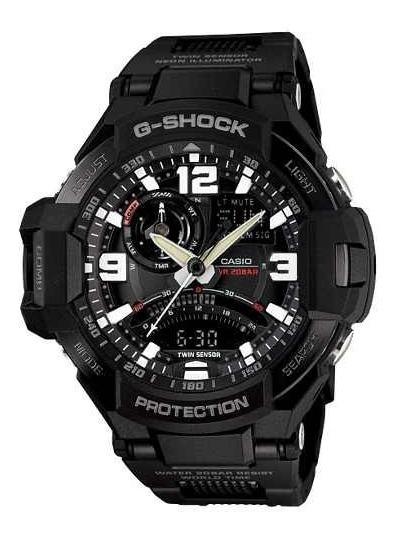 Relógio Casio G-shock Ga-1000fc-1a Pulseira Aço Escuro