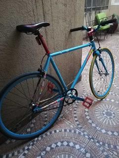 Bicicleta Fixie Azul!