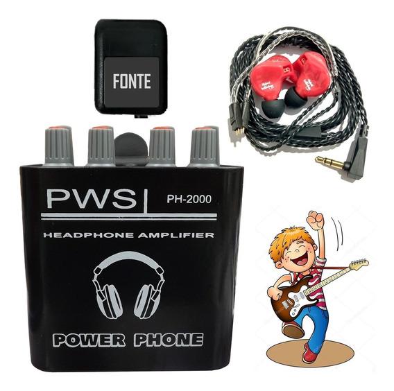 Fone Ouvido In Ear Super Bass + Power Phone Ph2000 C/ Fonte