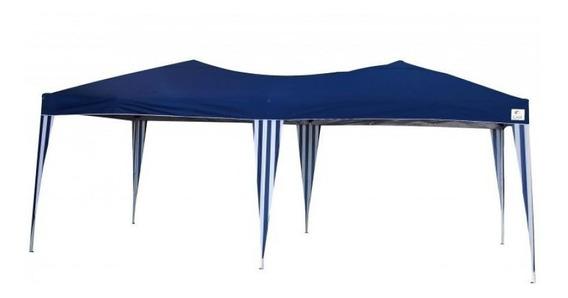 Tenda Gazebo Azul 3x6 Mts Articulada Pés Alumínio Oversize