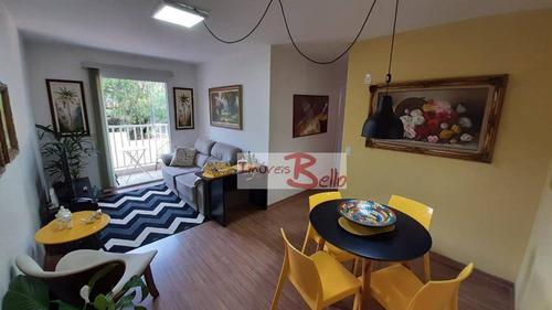 Apartamento Com 2 Dormitórios À Venda, 60 M² Por R$ 250.000 - Condomínio Villa Itália - Itatiba/sp - Ap0476