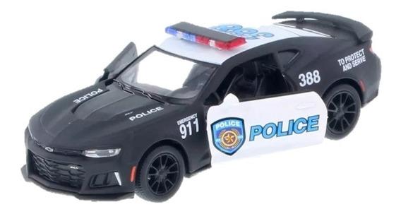 2017 Camaro Zl1 Policia Bombero Escala 1:38 Kinsmart