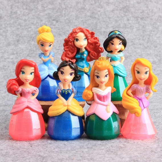 Promoção!princesas Disney 7 Pçs Branca De Neve,cinderela