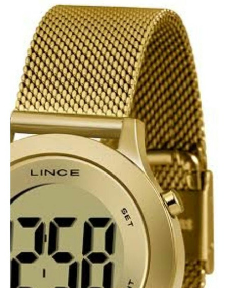 Relógio Lince Feminino Sdph109l Digital Casual Led Preto