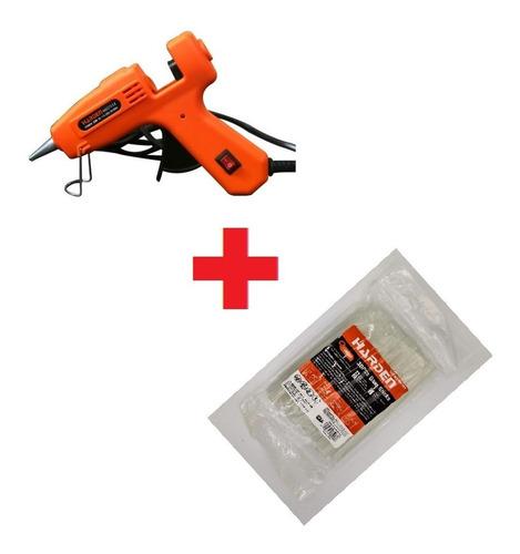 Pistola De Silicon 30w + Pack Barras De Silicone Harden - Fe
