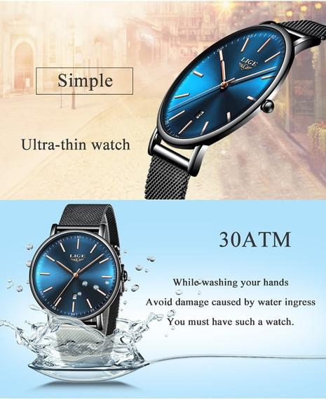 Promoção Relógio De Pulso Lige Original 9908 Unisex