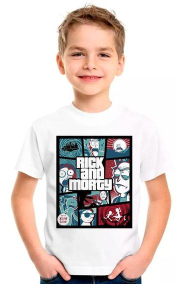 Camiseta Rick And Morty Camisa Blusa Moleton Regata Inf15