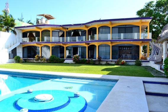 Casa Para 20 Personas En Pie De La Cuesta, Acapulco