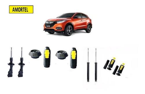 4 Amortecedores + Kits Batentes Do Honda Hrv Ano 15/19