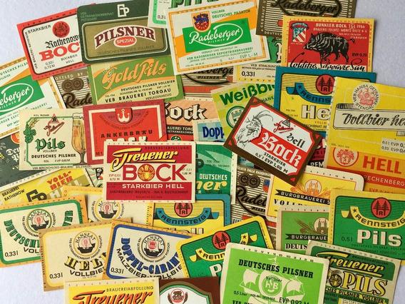 30 Rótulos Originais Cerveja - Antiga Alemanha Oriental Ddr