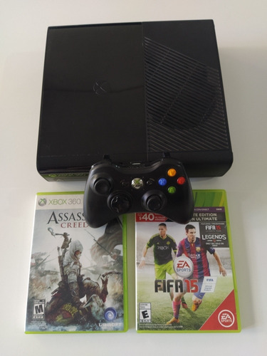 Xbox 360 Slim E Stingray + 2 Juegos Originales + Joystick
