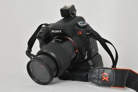 Sony Alfa 200 Super Completa Com Grip Bag Lentes (dada)