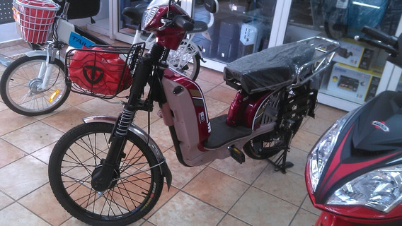 Bicicleta Electrica Roja
