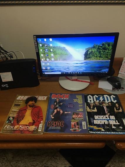 Lote 12 Revistas De Bandas+poster Do Ac/dc - Frete Grátis