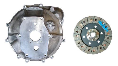 Imagem 1 de 7 de Capa Seca Motor Willys 6 Cil X Câmbio Chevette + Disco