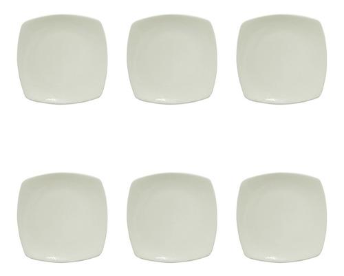 6 Platos Postre  Corona Oslo Ceramica Platos