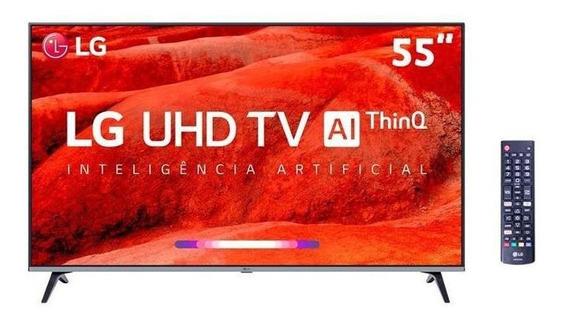Smart Tv 4k Led 55 Lg Um7520psb, Webos, Wi-fi Integrado