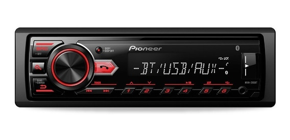 Stereo Pioneer Mvh-x295bt Bluetooth Usb Aux Am/fm 101db