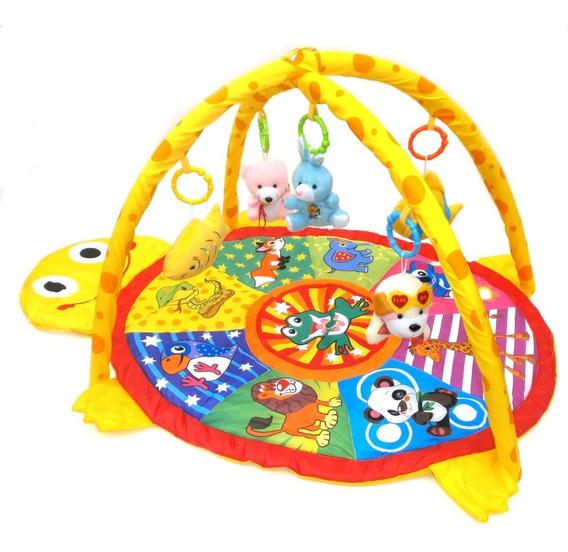 Gimnasio Para Bebe Rainbow Redondo Tortuguita Juegos Manta